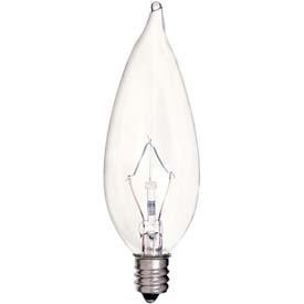 Satco Products Inc. 25 watt; CA9 1/2; Clear; 2500 average rated hours; 212 lumens; Candelabra base; 120 volts - S4465
