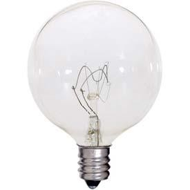 Satco Products Inc. 60 watt; G16 1/2; Clear; 2500 average rated hours; 720 lumens; Candelabra base; 120 volts - S4473