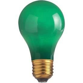 Satco Products Inc. 40 watt; A19; Ceramic Green; 2000 average rated hours; Medium base; 130 volts - S4982