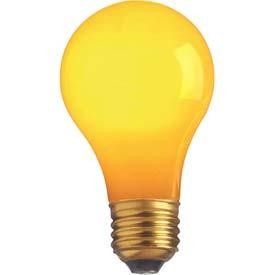 Satco Products Inc. 60 watt; A19; Ceramic Yellow; 2000 average rated hours; Medium base; 130 volts - S4987