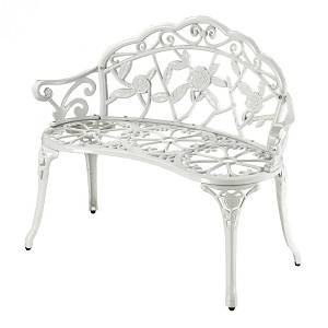 Sterling Industries Outdoor Bench In White - 134-003