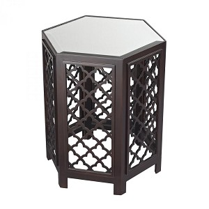 Sterling Industries Marrakesh-Moorish Pattern Side Table With Mirrored Top - 51-10129