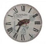 Sterling Industries Robin On Branch Printed Clock - 118-039
