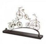 Sterling Industries Little Borough-Bicycles In Gold Leaf Mounted On Pewter Base - 138-022