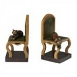 Sterling Industries Set Of 2 Cat On A Chair Bookends - 93-19317/S2