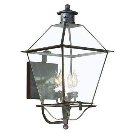 Troy Four Light Rust Wall Lantern - B8957NR