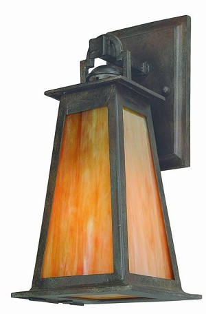 Troy One Light Bronze Wall Lantern - B9881SBZ-D