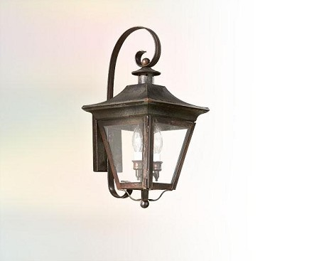 Troy Three Light Rust Wall Lantern - BCD8933NR