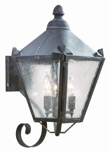Troy Three Light Black Wall Lantern - BCD8943CI