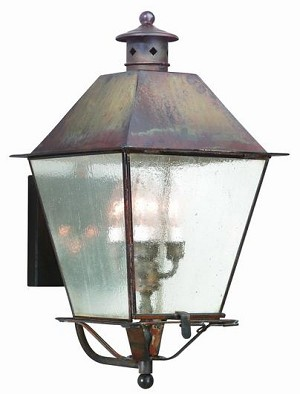 Troy Four Light Rust Wall Lantern - BCD9137NR