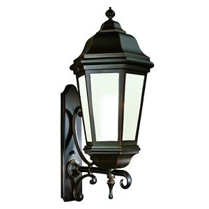 Troy One Light Black Wall Lantern - BFCD6836MB