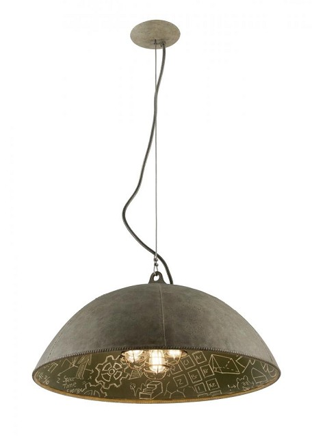 Five Light Salvage Zinc With Ch Down Pendant