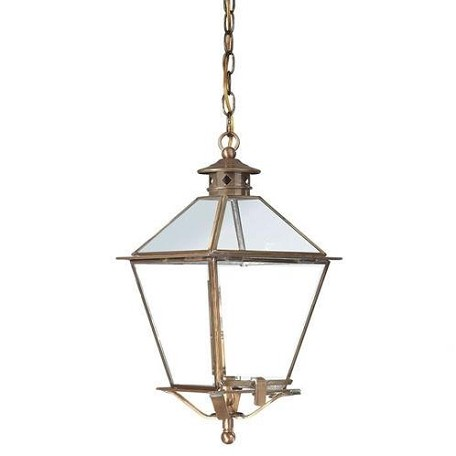 One Light Natural Rust Hanging Lantern