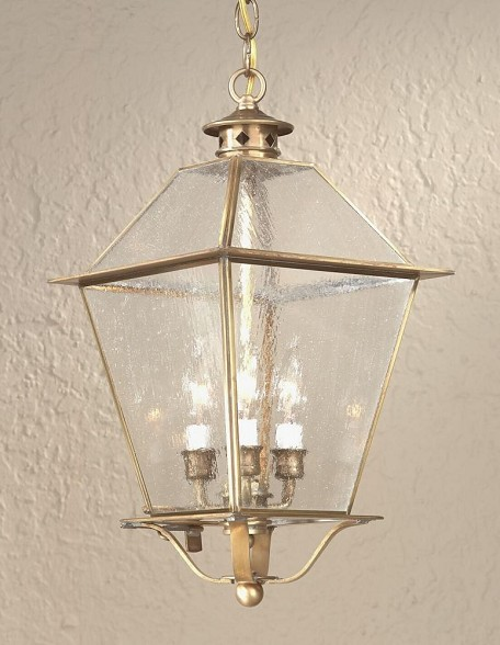 Troy Three Light Rust Hanging Lantern - F8956NR