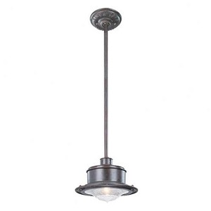Troy One Light Rust Outdoor Pendant - F9396OR