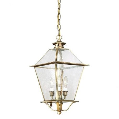 Troy Three Light Black Hanging Lantern - FCD8956CI