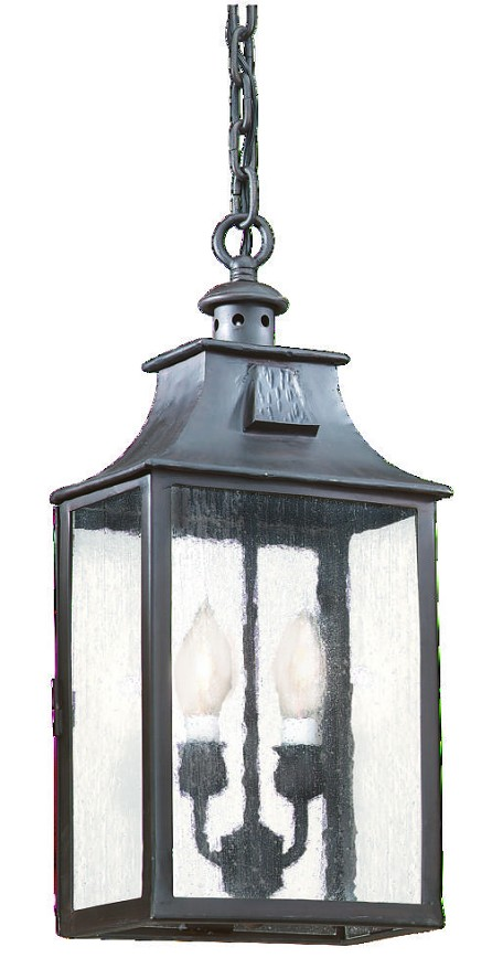 Troy Two Light Bronze Hanging Lantern - FCD9004OBZ