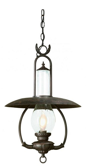 Troy One Light Bronze Hanging Lantern - FCD9013OBZ