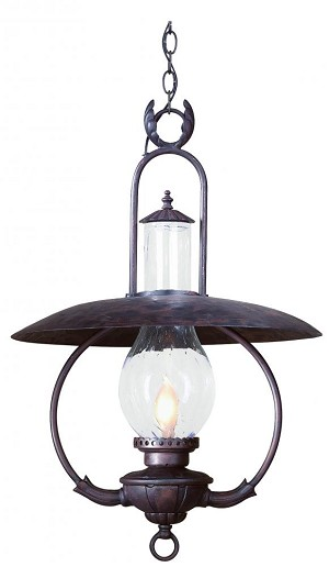 Troy One Light Bronze Hanging Lantern - FCD9014OBZ
