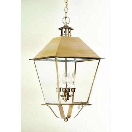 Troy Four Light Brass Hanging Lantern - FCD9142NAB
