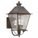 Troy Three Light Brass Wall Lantern - B9134NAB