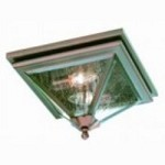 Troy Two Light Rust Outdoor Flush Mount - CCD8990OR