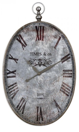 Uttermost Argento Antique Wall Clock - 06642