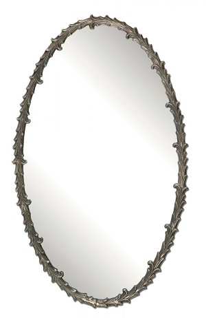 Uttermost Costano Silver Leaf Oval Mirror - 12844