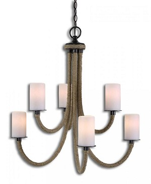 Uttermost Gironico 6 Light Rope Chandelier - 21254