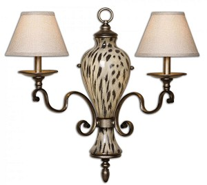 Uttermost Malawi 2 Light Wall Sconce - 22489