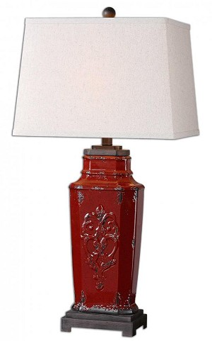 Uttermost Centralia Red Lamp - 26345