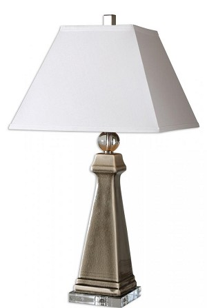 Uttermost Colobraro Gray Ceramic Lamp - 26495