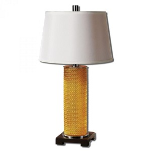 Uttermost Antonia Metallic Gold Glass Table Lamp - 26579