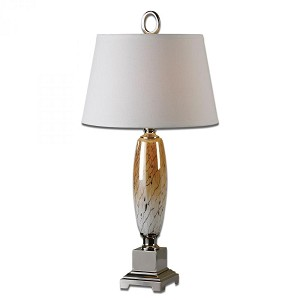Uttermost Serrone Amber and Ivory Table Lamp - 26599