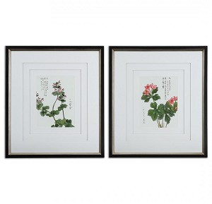 Uttermost Asian Flowers Framed Art Set/2 - 41513