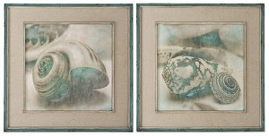 Uttermost Coastal Gems Framed Art, S/2 - 51084