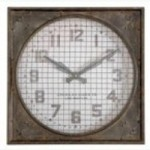 Uttermost Warehouse Wall Clock w/ Grill - 06083