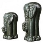 Uttermost Green Elephants Figurines, S/2 - 19809