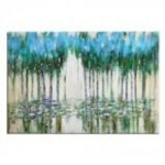 Uttermost Trees In The Mist Abstract Art - 35301