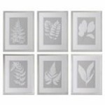 Uttermost Moonlight Ferns Framed Art, S/6 - 41394