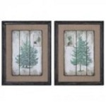 Uttermost Evergreens Vintage Art S/2 - 55007