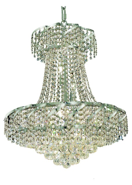 "Belenus Collection 11-Light 22"" Chrome Chandelier with Clear Swarovski Spectra Crystal ECA1D22C/SA"
