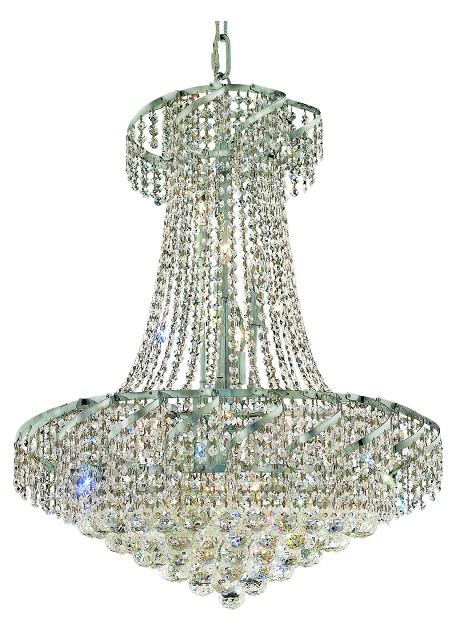 "Belenus Collection 15-Light 26"" Chrome Chandelier with Clear Swarovski Spectra Crystal ECA1D26C/SA"
