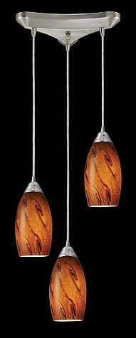 20001/3BG - Galaxy Collection Brown Glass Mini Pendant System