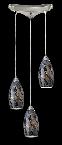 20001/3SG - Galaxy Collection Smoke Glass Mini Pendant System