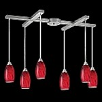 20001/6RG - Galaxy Collection Red Glass Mini Pendant System
