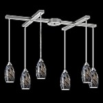 20001/6SG - Galaxy Collection Smoke Glass Mini Pendant System