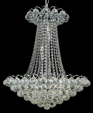 "Atlantis Design 13-Light 28"" Gold or Chrome Chandelier with European Crystals, Asfour Crystals or Swarovski Crystals SKU# 10223"