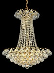 "Atlantis Design 13-Light 28"" Gold or Chrome Chandelier with European or Swarovski Spectra Crystal Strands SKU# 10223"
