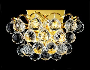 Atlantis Design 2-Light 10'' Chrome or Gold Wall Sconce with European or Swarovski Crystals SKU# 10229